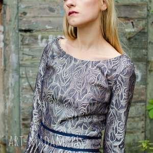 święta upominki elegancka żakardowa sukienka z połyskiem