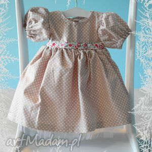 Sukienka dla lalki ok. 40 cm. - ,lalka,sukienka,waldorfska,miś,szmacianka,koronka,