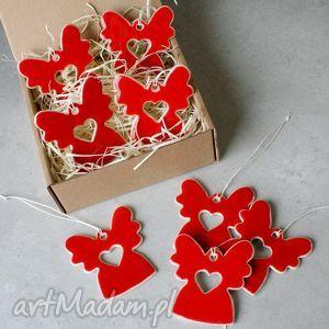 hand made pomysł na świąteczne prezenty aniołki - zestaw zawieszek