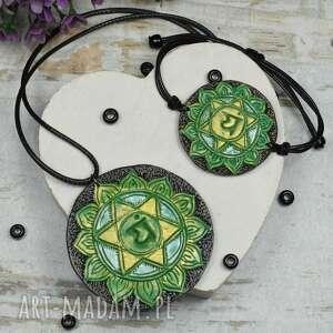 komplet biżuterii anahata - wisiorek i bransoletka czakry serca, biżuteria
