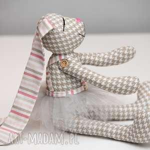 ręcznie robione zabawki królik personalizacja prezent z imieniem