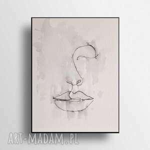 twarz-minimalizm-akwarela formatu 24/32 cm, akwarela, papier, twarz