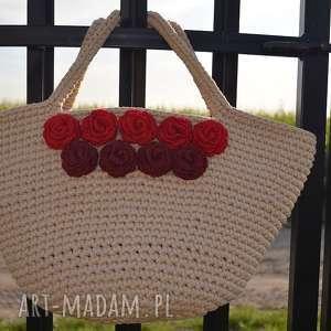 ręcznie wykonane torebki kosz plażowy sorrento