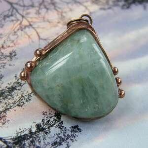 wisiorki wisiorek z łańcuszkiem akwamarynem, akwamaryn, kamień