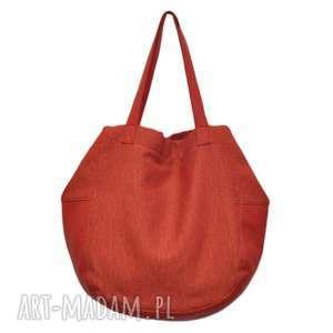 24-0019 Czerwona torebka damska worek / torba na studia SWALLOW, modne-torby-damskie
