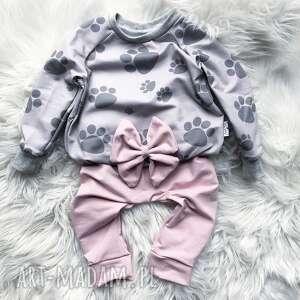 Bluza i spodnie dresowe łapki slow village dres dla dziecka