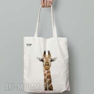 torba bawełniana z żyrafą, torba, eko, zyrafa, zakupy