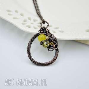 naszyjniki yellow spring - naszyjnik romantyczny z miedzi w stylu retro