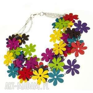 naszyjnik z kolorowych drewnianych kwiatów c483b - naszyjnik-drewniany