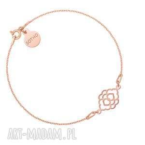 bransoletka z marokańską rozetką różowego złota, bransoletka, zawieszka, rozetka