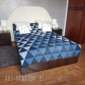 #7 narzuta na łóżko nakrycie denim patchwork, narzuta, denim, jeans