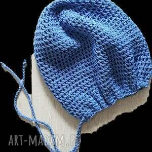 albadesign czapka na dredy z sznurkami błękit oceanu, dredy