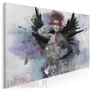 obraz na płótnie - kobieta skrzydła 120x80 cm 22801, kobieta