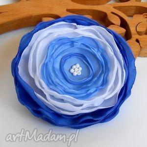 kwiatuszek - broszka - kwiat, broszka, modna, elegancka, rękodzieło