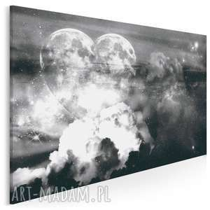 obraz na płótnie - kosmos serce 120x80 cm 41401, serce, kosmos, gwiazdy