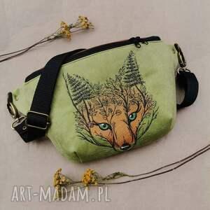 nerka xxl lisek, z lisem, leśna torebka, haftem