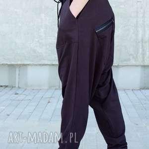 spodnie bawełniane alladynkiz zamkami, alladynki, dzianinowe, naturalne