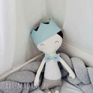 dla dziecka przytulanka mały książe xl - niebieska korona, książe