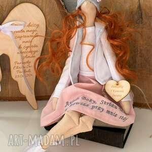 ręczne wykonanie lalki anioł pamiątka pierwszej komunii świętej chrztu