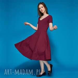 SYMETRIA sukienka z dzianiny bawełnianej, sukeinka, dzianina, bawełna
