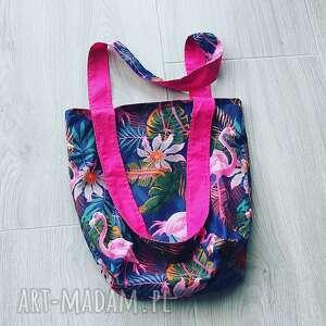 torebki eco torba bawełniana, torba, szoperka, flamingi