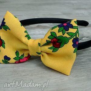 handmade ozdoby do włosów opaska z kokardką dla dziewczynki