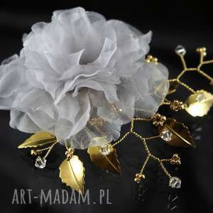 mgiełka, swarovski, ozdoba, kryształ, ślub, jedwab, wyjątkowy prezent