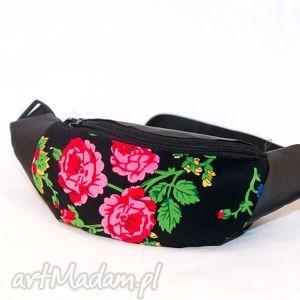 nerka, portfel, torebka w góralskie kwiaty, folkowy wzór , folk