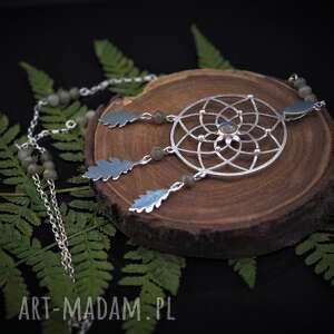 naszyjniki dębowy łapacz snów, boho, natura, liście, prezent, drzewa