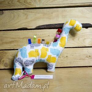 maskotki mięciutki dinozaur - minky bawełna hipcie, zabawka, pluszak,