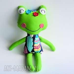 Żabka - wersja S Ala 35 cm, żabka, mniejsza, dziecko, dziewczynka, boho, maskotka