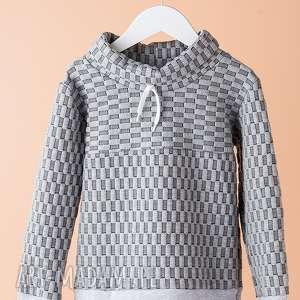 dodosklep bluza chb11m, wygodna, stylowa, chłopięca, bluza, kafelki, teksturowana dla