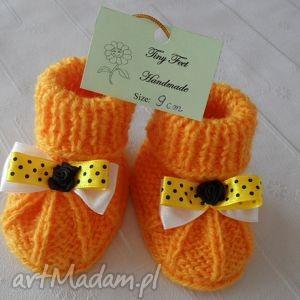 Buciki niemowlęce z kokardką tiny feet buciki, kapciuszki,