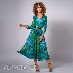 amelia tropical - sukienka, ponadczasowa, koktajlowa, elegancka, pod choinkę