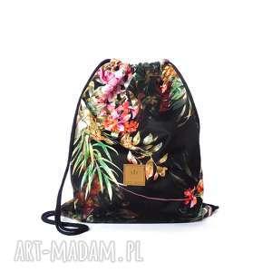 ręczne wykonanie flowers plecak worek