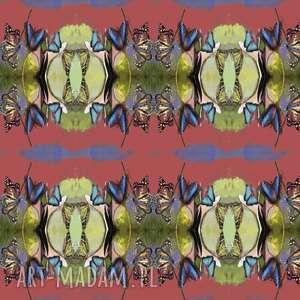 materiał krawiecki Motylkowa wariacja , krawiectwo, materiał, deseń, oryginalność