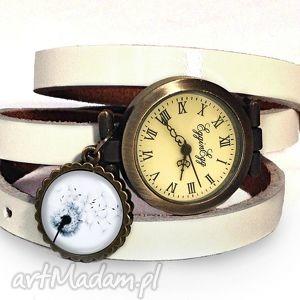 dmuchawiec - zegarek bransoletka na skórzanym pasku egginegg, skórzana