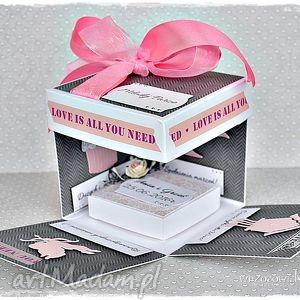 Love is all you need...box ślubny, exploding, box, eksplodujące, pudełko, ślub