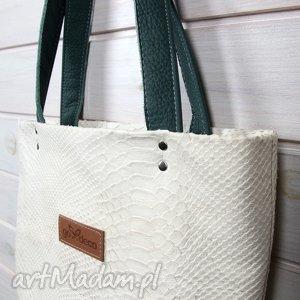 skórzana torebka, torebka, tłoczona, skórzana, wytrzymała, klasyczna, format