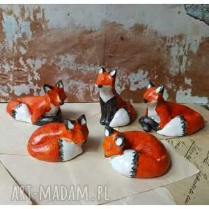 rodzina lisków, ceramika, lis, lasy w słoiku święta