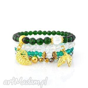 bransoletki zestaw bransoletek - royal green set, bransoletki, zestaw