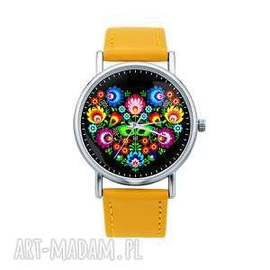 Zegarek z grafiką SLAVIC LOVE, serce, etniczne, folk, miłość, kwiaty, folklor