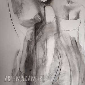 kobiety, duży-obraz, kobieta-obraz, rysunek-węglem, postać-obraz, duża-grafika
