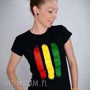 koszulka czarna rasta - damska, rasta, reggae, jamajka, bluzka, t shirt