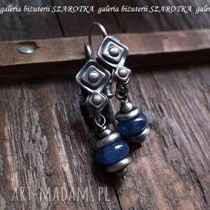 kolczyki prywatna niebieskość z kyanitu i srebra, kianit, kyanit, srebro
