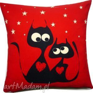 poduszka dla zakochanych, walentynki, koty,