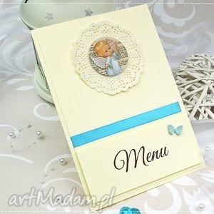 menu na chrzest św kolekcja little angels, menu, chrzest, chrzciny, aniołek