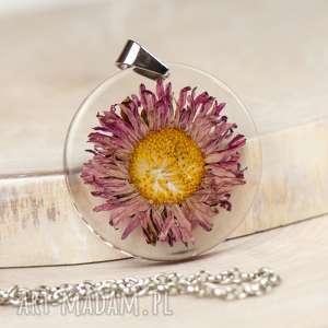 naszyjnik z prawdziwym kwiatem 1322, naszyjnik-z-kwiatem, suszone-kwiaty