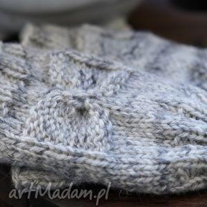 handmade rękawiczki mitenki z kokardką