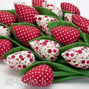 tulipany bukiet tulipanów czerwone kwiatuszki 9 szt, tulipany